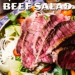 Easy & Zesty Vietnamese Beef Salad pin image