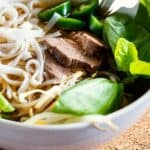 Instant Pot Beef Pho Pin Image - wavy line soup