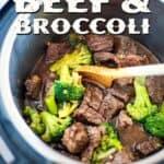 Keto Beef and Broccoli pin image