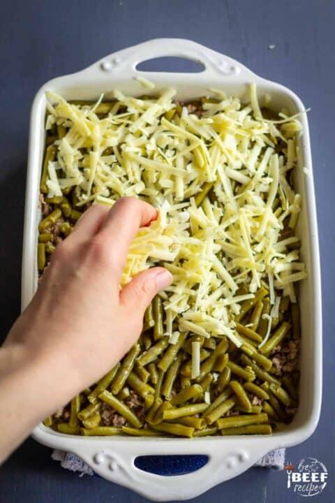 Adding cheese to keto casserole recipe