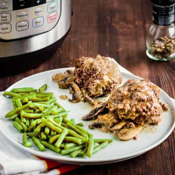 Instant Pot Salisbury Steak Recipe with Keto Gravy