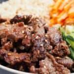 Korean Beef Bulgogi Bowls Pin Image