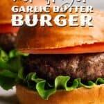 Air Fryer Burger Recipe pin image