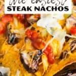 Sheet pan nachos pin image