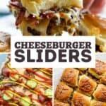 cheeseburger sliders pin image