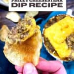 instant pot philly cheese steak dip recipe pin