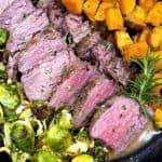 Slices of sous vide steak