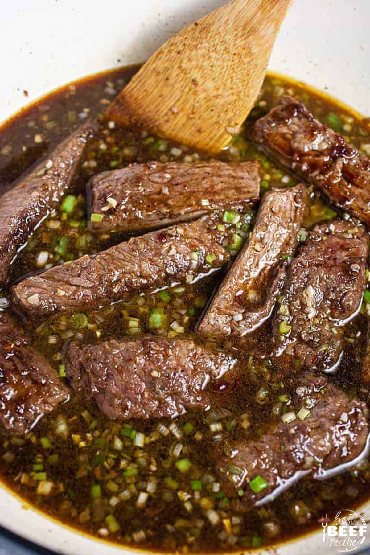 Korean short ribs ready to cook in dutch oven