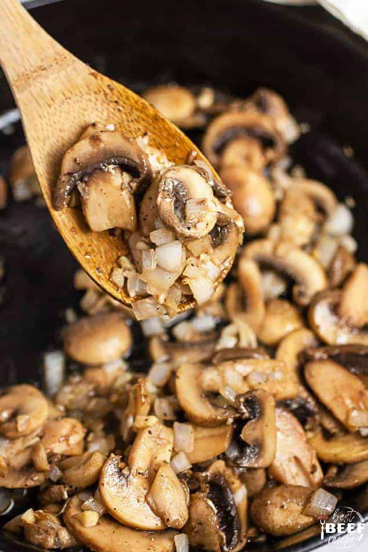 Mushrooms in a skillet