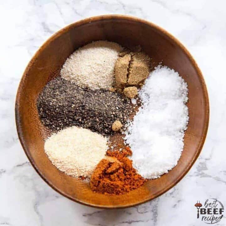 mixing seasoning in a bowl
