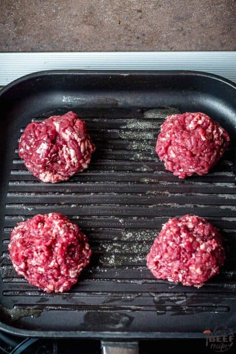 burger balls on a griddle