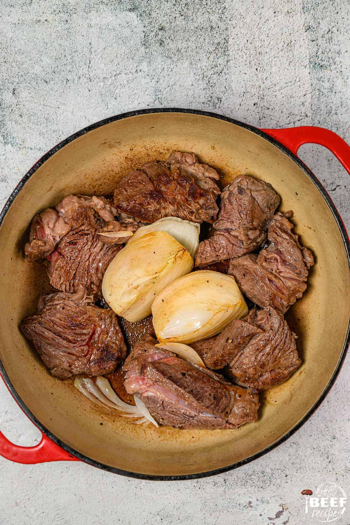 Birria beef in the dutch oven