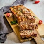 Meatloaf on a cutting board