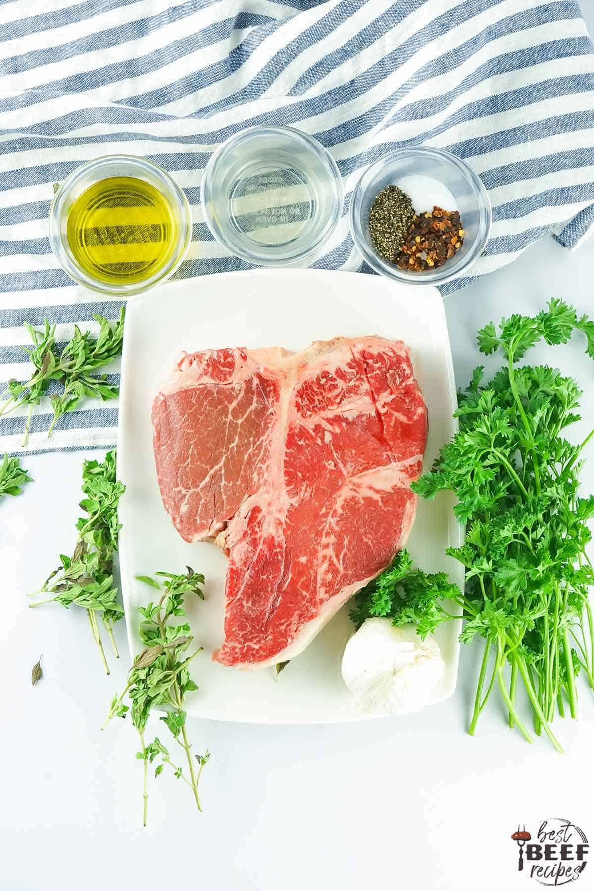Porterhouse steak ingredients